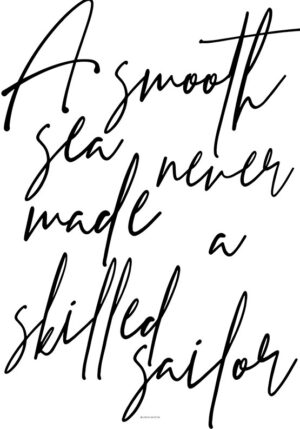 A smooth sea plakat