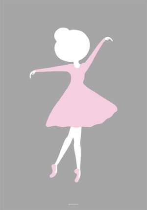 Yndig plakat med ballerina