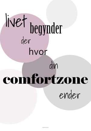 Comfortzone plakat