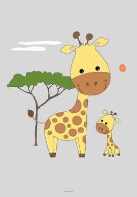 Girafmor og unge