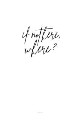 Plakat: If not here, where?