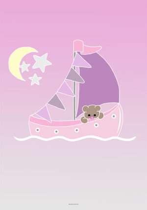 Lille bjørn på sejltur til pige