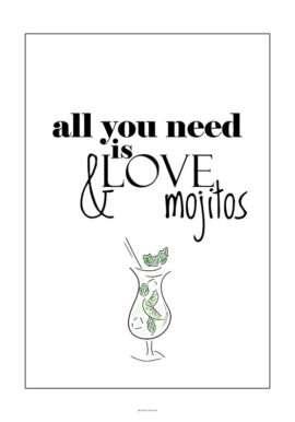 Love and Mojitos plakat