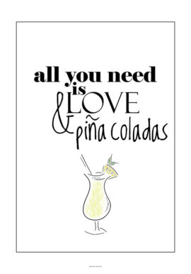 Love and Pina Coladas plakat