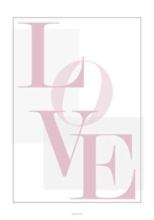 Love plakat