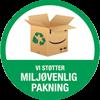 Miljøvenlig pakning badge