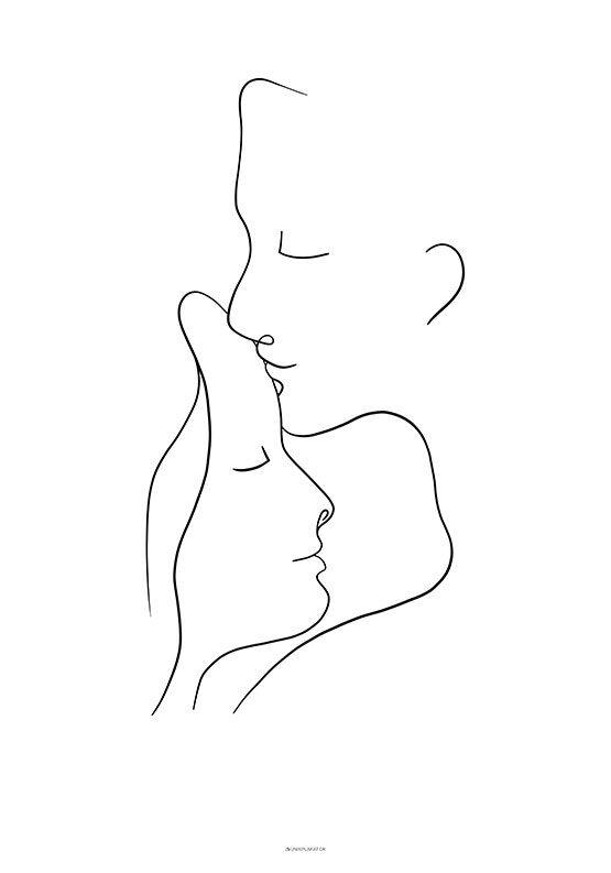 One line drawing - Caress