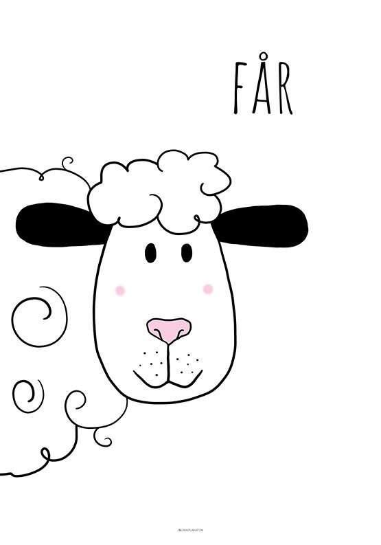 Børneplakat med får