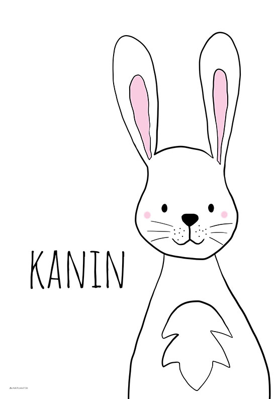 Børneplakat med kanin