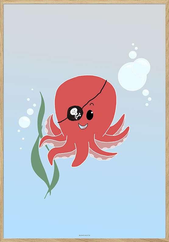Plakat med sød blæksprutte