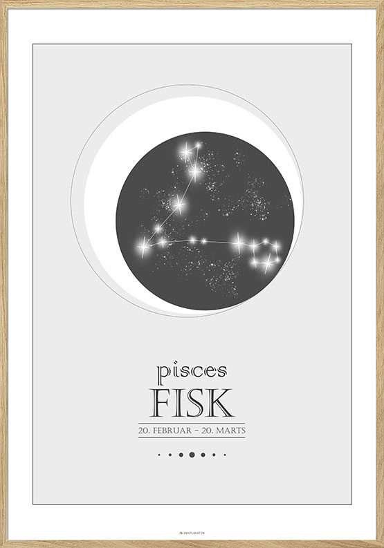 Stjernetegnplakat fisk