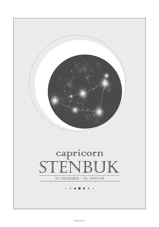 Stjernetegnplakat stenbuk