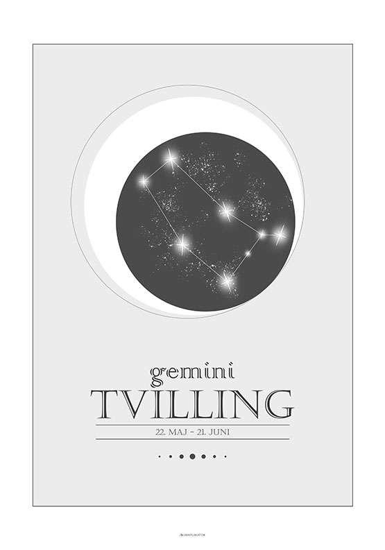Stjernetegnplakat tvilling