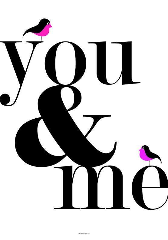 You and me fugleplakat