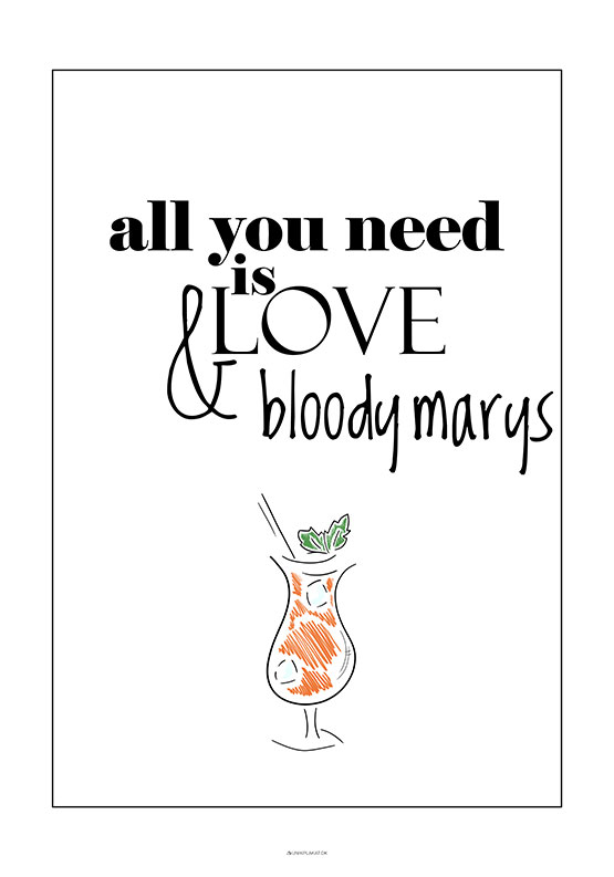 Drink plakat - Bloody Mary