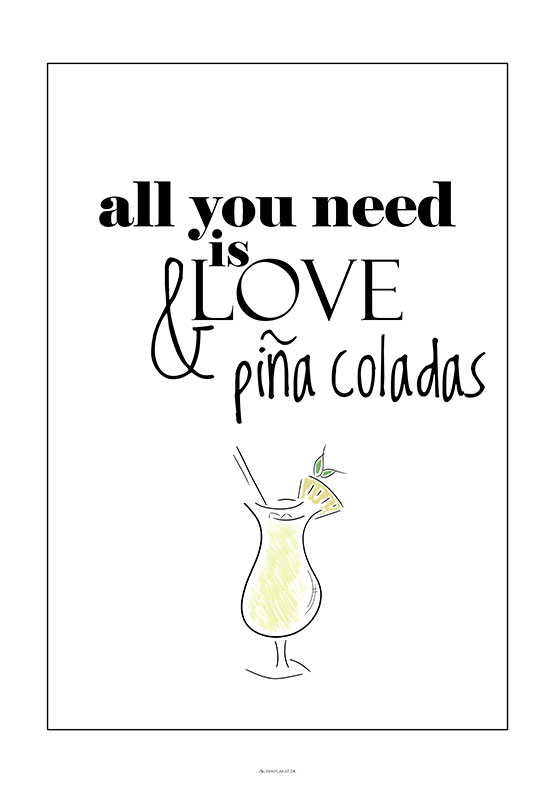 Drink plakat - Pina Colada