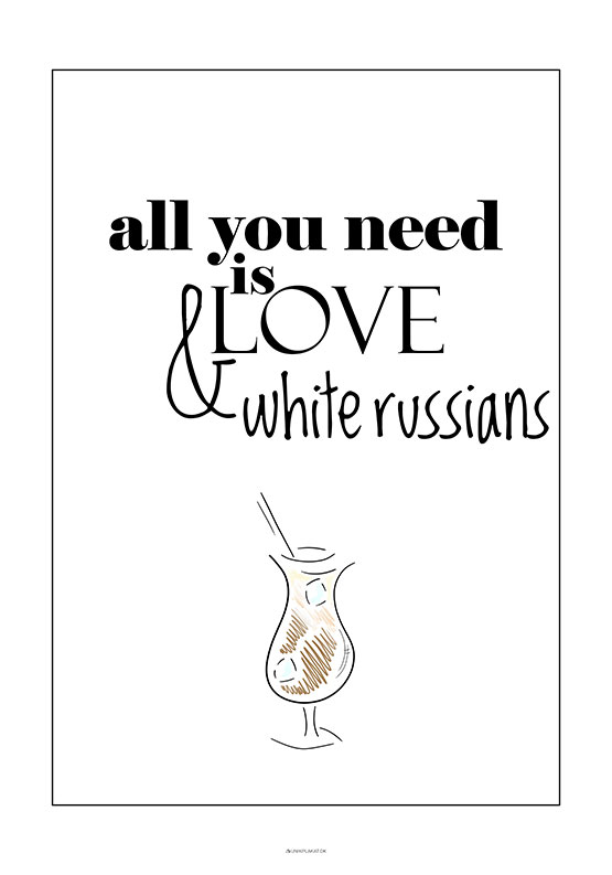 Drink plakat - White Russian