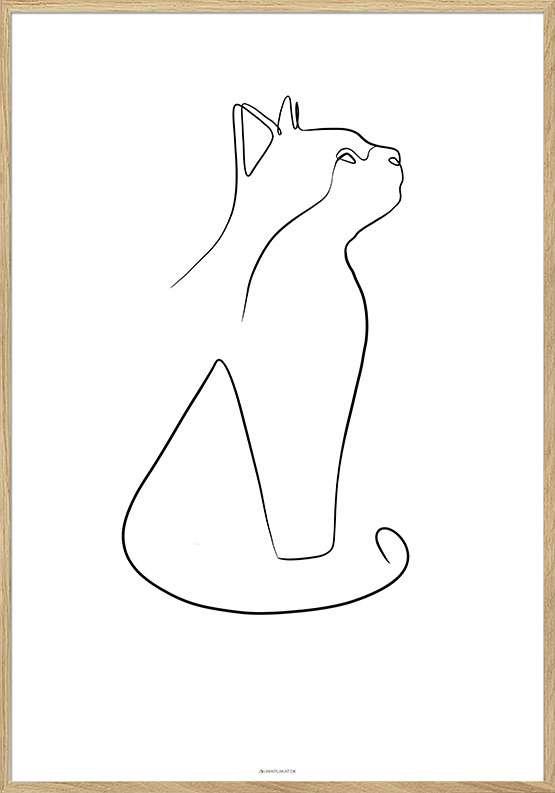 Line art - Cat plakat