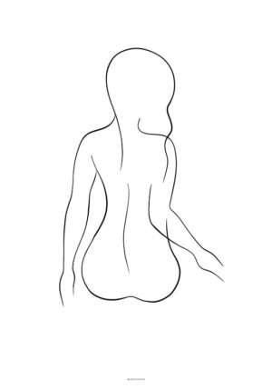 Line art woman