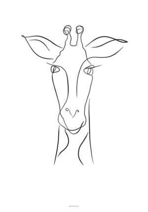 Stregtegning plakat giraf