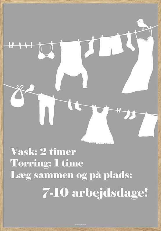 Vaskeplakat med vasketøj
