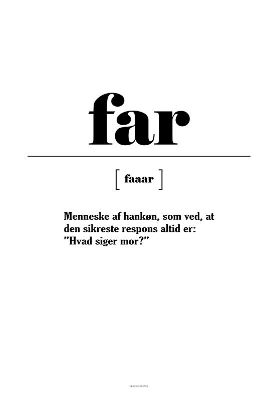 Far definition - Spørg mor
