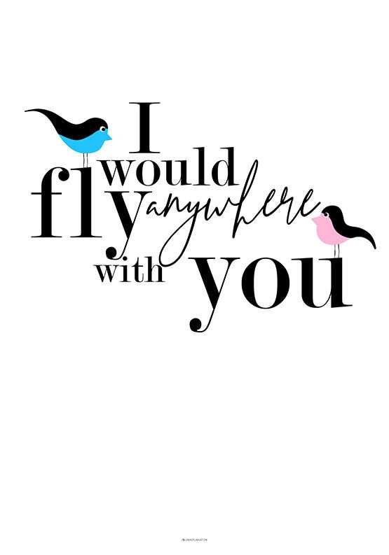 I would fly - Birds plakat