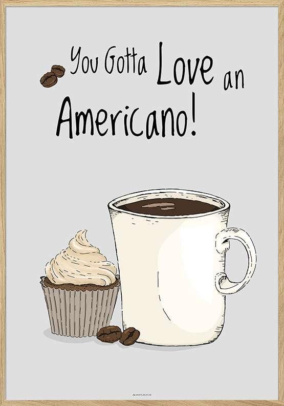 Kaffeplakat - Americano