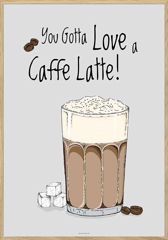 Kaffeplakat - Caffe Latte