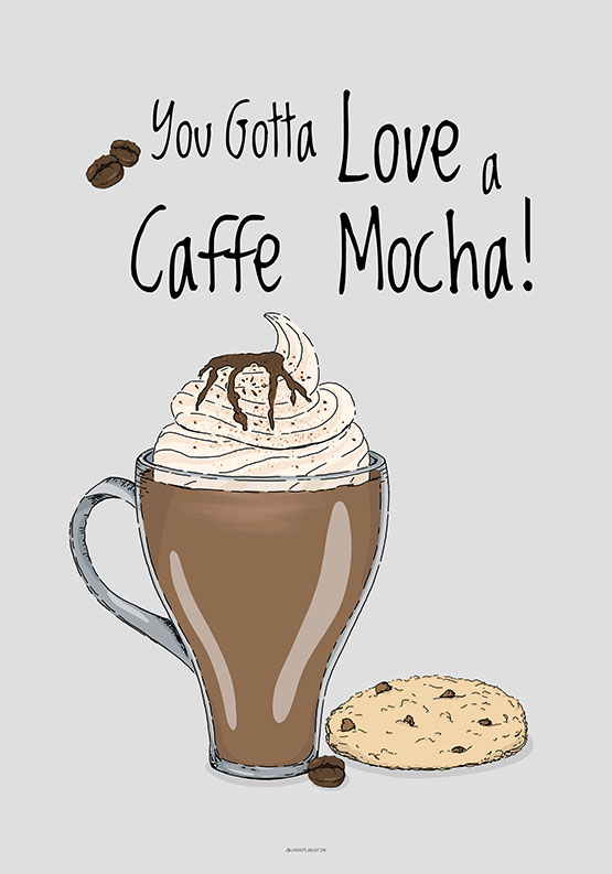 Kaffeplakat - Caffe Mocha