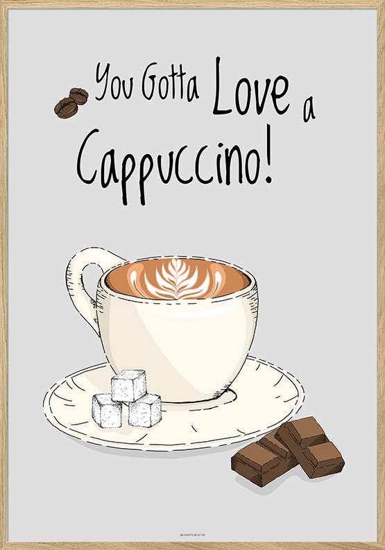 Kaffeplakat - Cappuccino