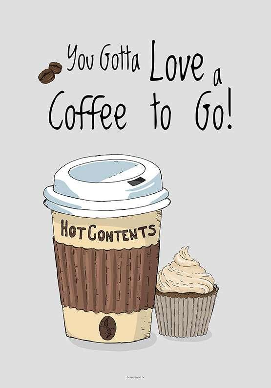 Kaffeplakat - Coffee to go