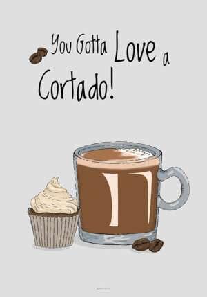 Kaffeplakat - Cortado