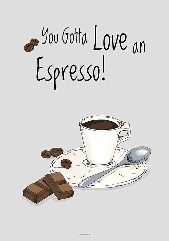 Kaffeplakat - Espresso