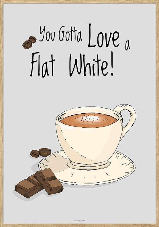 Kaffeplakat - Flat White