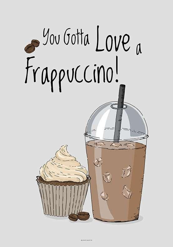 Kaffeplakat - Frappuccino