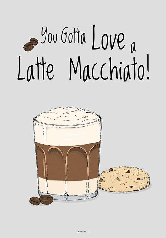 Kaffeplakat - Latte Macchiato