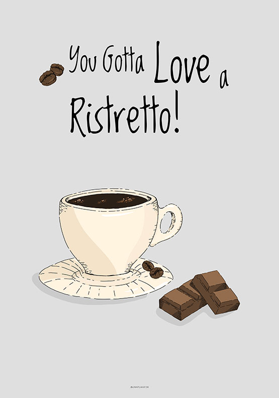 Kaffeplakat - Ristretto
