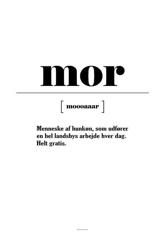 Mor definition - Landsby