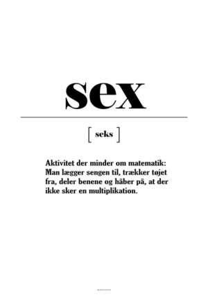 Sex definition - Matematik