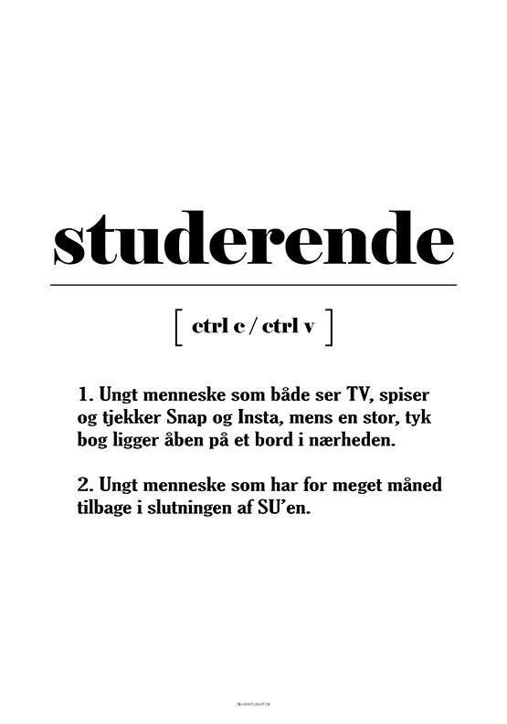 Studerende definition