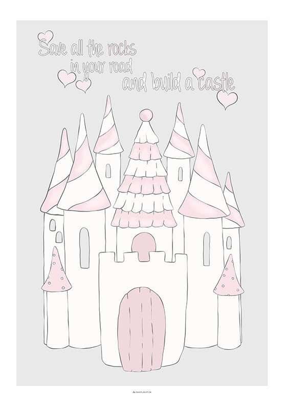 Børneplakat med candy prinsesseslot