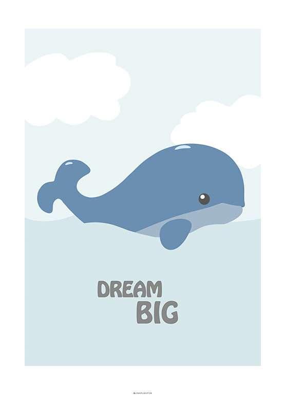 Børneplakat med hval