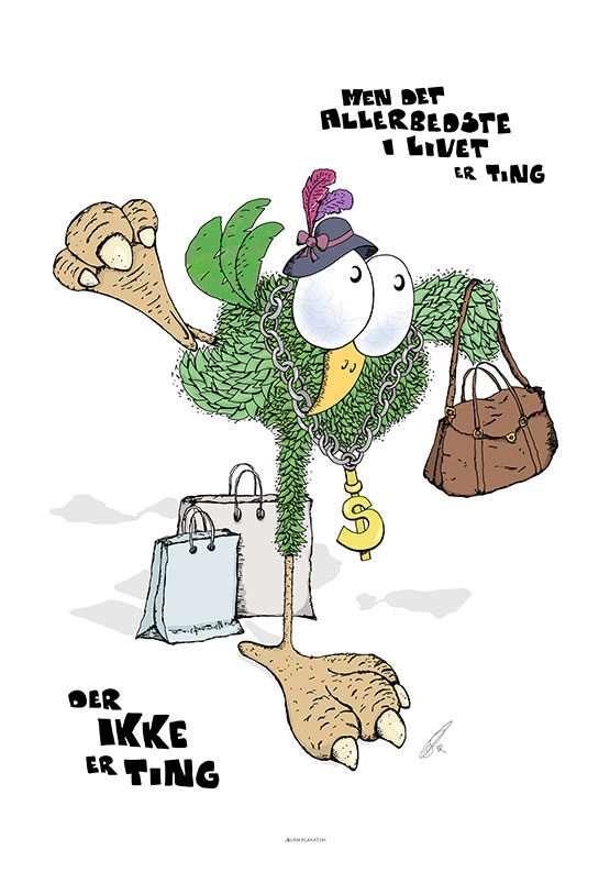 Fugleplakat - De bedste ting i livet