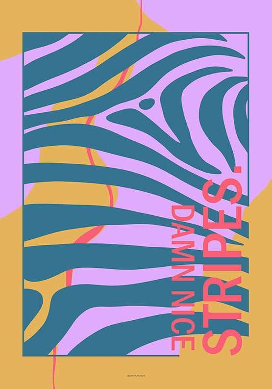 Kunstplakat med farver