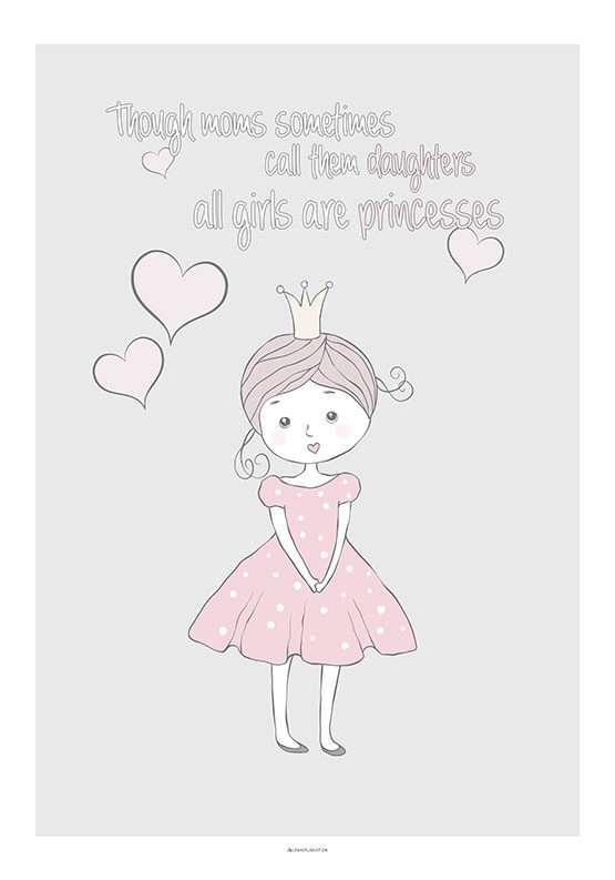 Lille prinsesse børneplakat