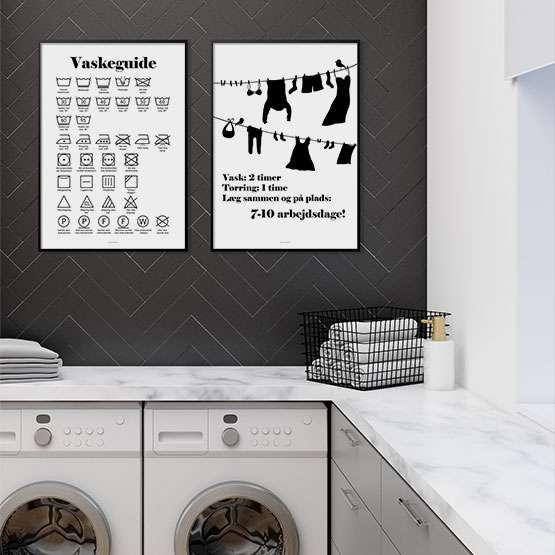 Vaskeguide - 2 lækre vaskeplakater