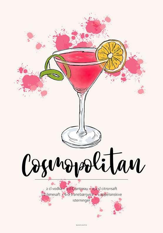 Cosmopolitan opskrift plakat