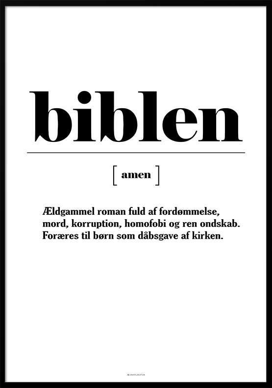 Definitionsplakat - Biblen