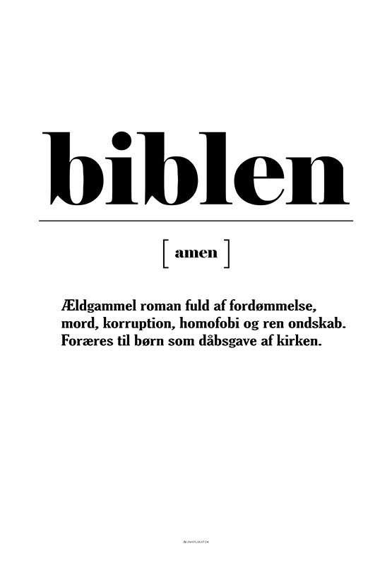 Definitionsplakat bibel